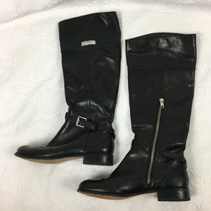Coach Micha Black Leather Riding Boots Size 6B